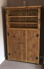 Rustic Pine Tall Bookcase With Cupboard (MADE TO ANY SIZE)