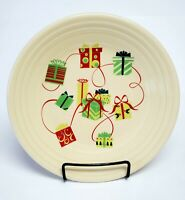 """Fiestaware Homer Laughlin  Holiday Christmas Gifts Presents 9"""" Luncheon Plate"""