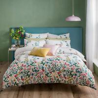 Cath Kidston Twilight Garden Multi 100% Cotton 200 TC Bed Quilt Duvet Cover Set
