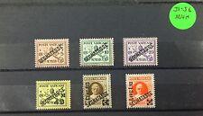 {BJ Stamps} VATICAN CITY, J1-J6,1931 Postage Dues, F-VF, OG, MNH. '17 CV $235.00