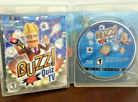 Buzz Quiz TV Sony PlayStation 3 Complete CIB Video Games Gaming