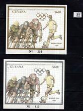// GUYANA - MNH - GOLD+SILVER - OLYMPICS, SOCCER, CYCLING, TOUR DE FRANCE