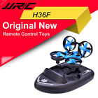 JJRC H36F 2.4G Vehicle Drone Boat Remote Control 3in1 Toy + Headless 3D Flips