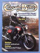 CLASSIC BIKE - July 1984 - 750cc BSA Rocket III - Harley Davidson FXRT