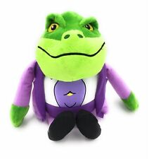 """DANGER MOUSE 10"""" BARON GREENBACK SOFT TOY FROG TOAD"""