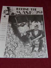 Behind the Mask #4 (1990) Pulp adventure reprint fanzine Fading Shadows Echoes