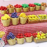 1:12 Dollhouse Miniature Food Toy Fruit Bamboo Basket Miniature Accessoritb
