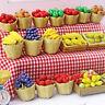 1:12 Puppenhaus Miniatur Lebensmittel Spielzeug Obst Bambuskorb Miniatur ZuRSDE