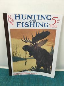 XONEX  BLANK SKETCH BOOK VINTAGE HUNTING AND FISHING NOV 1929 REPRO COVER  Bd7