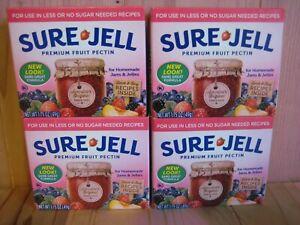 Sure Jell  Premium Fruit Pectin Less Sugar 1.75 oz Per Box Lot of 4 Exp FEB 2022