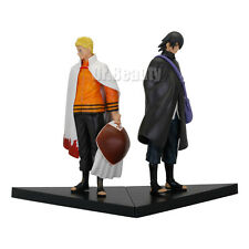 Anime 2pcs Seventh Hokage Naruto Uzumaki Sasuke Uchiha PVC Figure Collect Toy