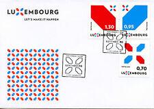 Lussemburgo 2016 FDC Nuovo firma facciamo che succeda 3v Set Coprire FRANCOBOLLI