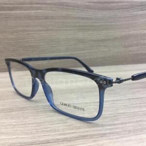 Giorgio Armani AR 7041 Eyeglasses Smoke Blue Brown Ruthenium 5316 Authentic 55mm