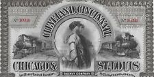 *ANNO 1893 * LE FERROVIE DEL WEST * BOND FERROVIARIO USA AUTENTICO ED ORIGINALE