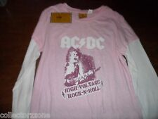 NWT - ROCKWARE AC/DC HIGH VOLTAGE ROCK & ROLL - LADIES SHIRT
