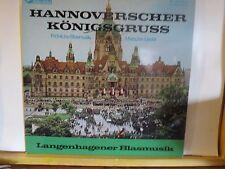 HANNOVERSCHER KONIGSGRUSS LANGENHAGENER BLASMUSIK  TON LP N/M ERNST MULLER