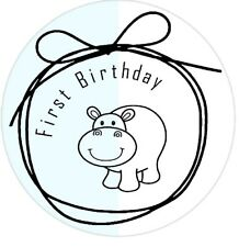 First Birthday stickers party favours boys and girls cute envelope seals x 50