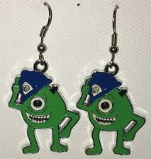 MIKE Earrings Disney Surgical New Wazowski Monsters Inc one eyed green (B)