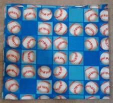 FLEECE FABRIC- Juvenile Print - Baseballs and Blocks  - 1 yd 16""