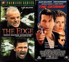 Lot 2 VHS Alec Baldwin The Edge & Getaway Anthony Hopkins Kim Bassinger