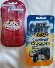Bic Comfort 3 Advance Razors, & Bic Simply Soleil Disposable Shavers ~ 3 Blades