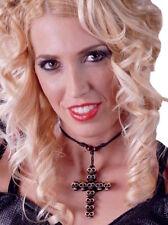 Halloween Collana con Pendente Croce Teschio Punk Goth Tribal CROCIFISSO OSSO Voodoo