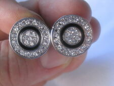 New Round Rhinestone Cufflinks with Lots of Bling!