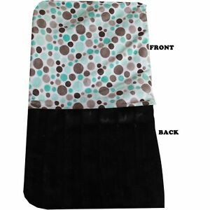 Mirage Pet Products Luxurious Plush Big Baby Blanket Aqua Party Dots