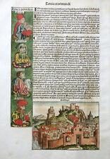 Afrique Carthago Tunisie CARTHAGE Schedel Weltchronik inkunabel vue 1493