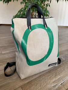 FREITAG F201 PETE BACKPACK Bag Rucksack Gray Green Rare Zip Size LARGE