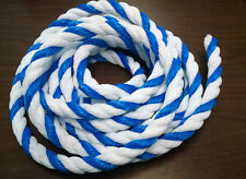 """Swimming pool poly saftey line rope - 3/4"""" Blue/White  - 25' roll"""