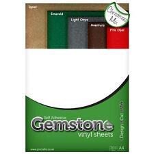 A4 Christmas Mix GEMSTONE Glitter Vinyl Sheets for Cameo 2 Portrait Curio