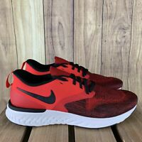 Nike Odyssey React Flyknit 2 Red Orbit Mens Running Shoes AH1015 600 sz 9 *