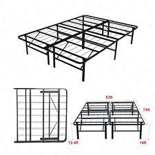 Modern Full Size Bi-Fold Folding Platform Metal Bed Frame Mattress Foundation