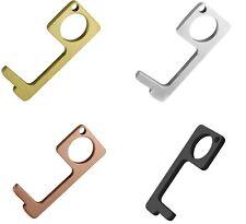 4PCS Clean Key Door Opener Handheld Brass EDC Keychain No Touch Hand Tool USA