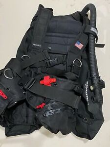 ZEAGLE Stiletto Black Diving Vest BCD Buoyancy Compensator XL