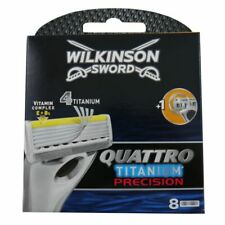 8 Wilkinson Quattro Precision Rasierklingen Ersatzklingen NEU