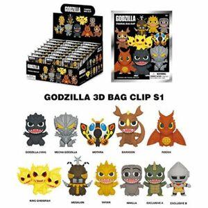 Godzilla 3D Figure Key Chain Clip! - You Choose!
