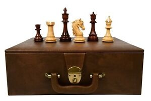 Combo of The French Warrior Chess Pieces in Bud Rose & Box Wood with Storage Box