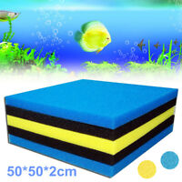 50*50*2cm Blue Yellow Aquarium Fish Tank Pond Biochemical Cottons Filter