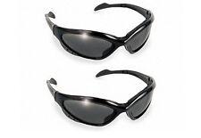2 Neptune Sunglasses EVA Foam Padded Smoke Safety Lens Motorcycle Biker Cycling