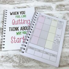 Food Diary Slimming World Diet Journal Weight Loss Note book - BK 12 - QUITTING