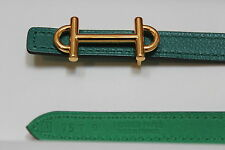 "Hermes Paris Exclusive 13mm Women's Belt 75 cm Gold ""H"" Buckle"