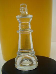 """King Glass Chess Replacement Piece 3"""" Felt Bottom"""