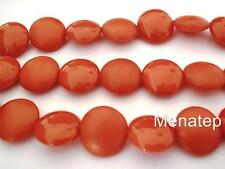 4(Four)  14mm Cushion Round Beads: Pop - Marigold