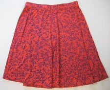 Boden Womens 6 UK 10 Flippy Skirt Stretch Viscose Knit Coral Red Blue Tree Dot