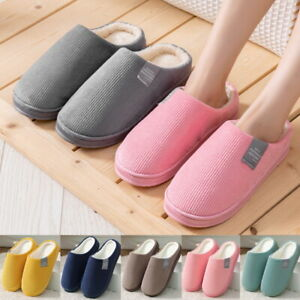 Womens Cozy Winter Warm Clogs Slippers Waterproof Indoor Plush House Shoes Size~