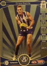 2014 afl TEAMCOACH GOLD NORTH MELBOURNE DREW PETRIE #160 CARD FREE POST