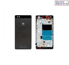 CACHE ARRIERE BATTERIE + PLAQUE SUPPORT CHASSIS CENTRAL NOIR HUAWEI P8 LITE