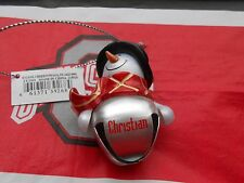 """GANZ Snowman Personalized """"CHRISTIAN"""" Top Hat Jingle Bell Ornament 2 1/4""""  NEW"""